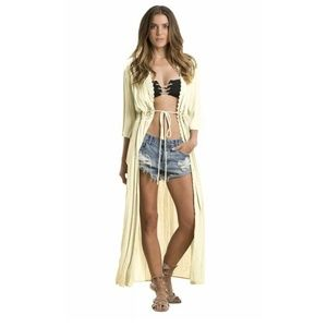 Elan Size Small Cover-Up Duster Cardigan